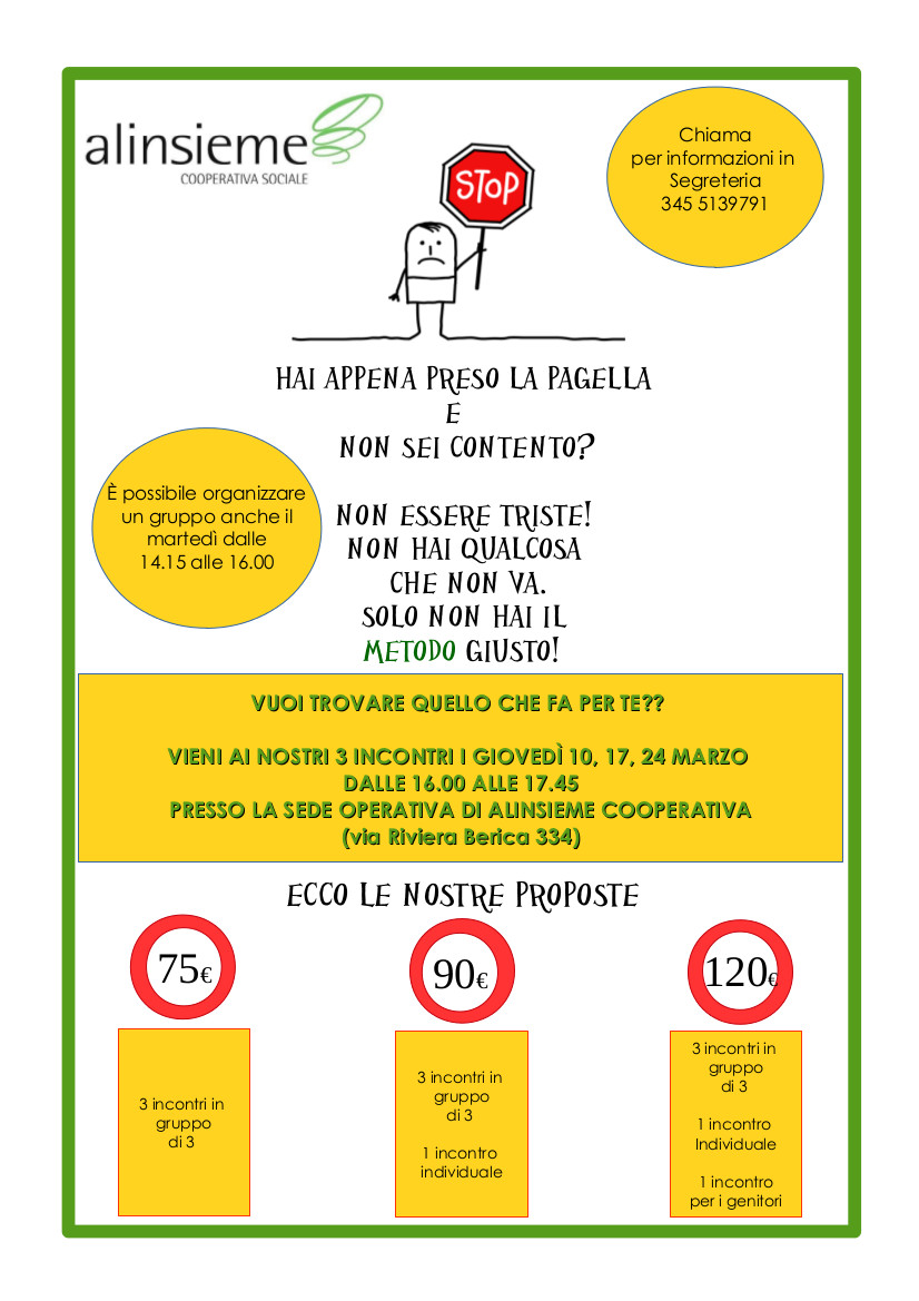 Metodo di studio a Vicenza: rendere di più con meno fatica.